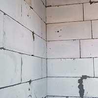 Стены из газобетонных блоков.