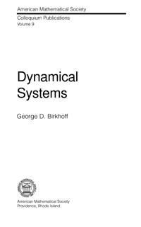 Dynamical systems — обложка книги.