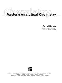 Modern Analytical Chemistry — обложка книги.