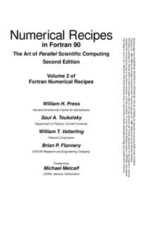 Numerical Recipes in Fortran 90 — обложка книги.