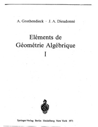 Elements de Geometrie Algebrique — обложка книги.