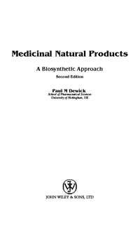 Medicinal Natural Products — обложка книги.