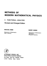 Methods of modern mathematical physics. 1: functional analysis — обложка книги.