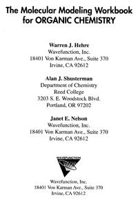 The Molecular Modeling Workbook for ORGANIC CHEMISTRY — обложка книги.