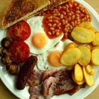 Обильный завтрак.