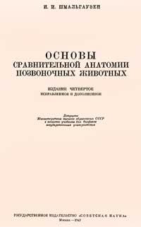 Основы сравнительной анатомии позвоночных животных — обложка книги.