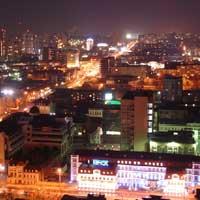 Ночной Екатеринбург.