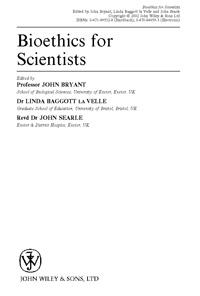 Bioethics for Scientits — обложка книги.
