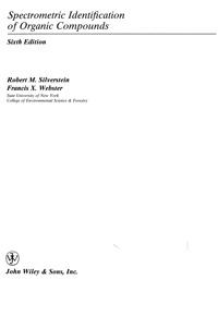 Spectrometric Identification of Organic Compounds — обложка книги.