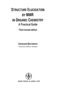 Structure Elusidation by NMR in Organic Chemistry — обложка книги.