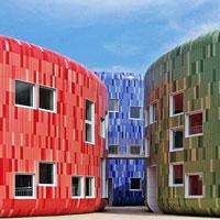 Сказочные домики облицованные композитными панелями.
