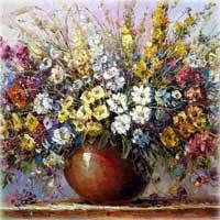Картина с цветами.