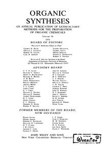 Organic syntheses. V. 58 — обложка книги.