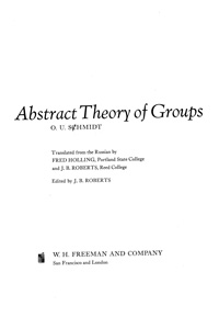 Abstract Theory of Groups — обложка книги.