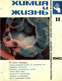 Химия и жизнь №11/1965 — обложка книги.