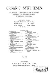 Organic syntheses. V. 7 — обложка книги.