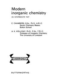 Modern Inorganic Chemistry — обложка книги.