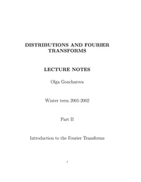 Distributions and Fourier Transforms. Part 2 — обложка книги.