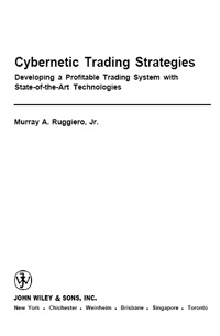 Cybernetic Trading Strategies — обложка книги.