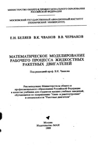 Математическое моделирование рабочего процесса жидкостных ракетных двигателей — обложка книги.