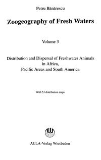 Zoogeography of fresh water. Volume 3 — обложка книги.