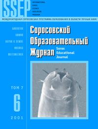 Соросовский образовательный журнал, 2001, №6 — обложка книги.