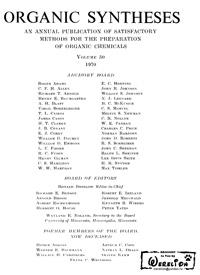 Organic syntheses. V. 50 — обложка книги.
