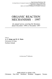 Organic Reactions Mechanisms — обложка книги.