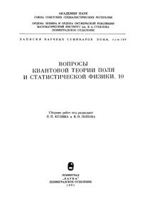 Вопросы квантовой теории поля и статистической физики. 10 — обложка книги.