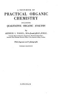 Practical Organic Chemistry — обложка книги.