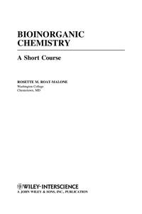 Bioinorganic Chemistry — обложка книги.
