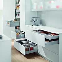 Современные выдвижные кухонные системы.