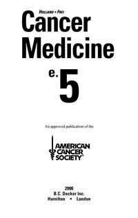 Cancer medicine — обложка книги.