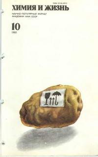 Химия и жизнь №10/1981 — обложка книги.