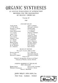 Organic syntheses. V. 45 — обложка книги.