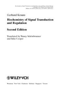 Biochemistry of Signal Transduktion and Regulation — обложка книги.