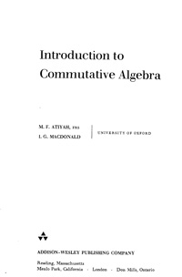 Introduction to Commutative Algebra — обложка книги.