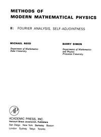 Methods of modern mathematical physics. 2: fourier analysis, self-adjointness — обложка книги.