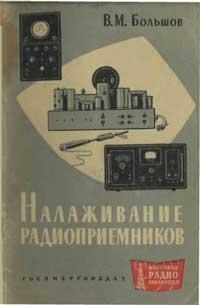 Массовая радиобиблиотека. Вып. 457. Налаживание радиоприемников — обложка книги.
