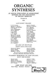 Organic syntheses. V. 54 — обложка книги.