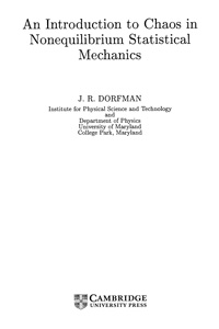 An Introduction to chaos in nonequilibrium statistical mechanics — обложка книги.