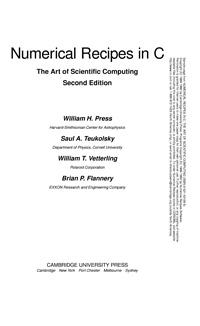 Numerical Recipes in C. The Art of Scientific Computing — обложка книги.