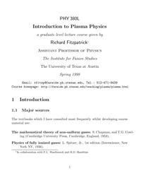 Introduction to plasma physics — обложка книги.