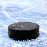 Шайба на льду.