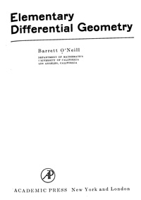 Elementary Differential Geometry — обложка книги.
