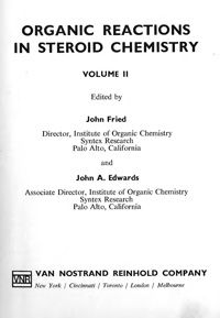 Organic Reactions in Steroid Chemistry. Volume 2 — обложка книги.