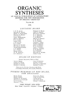 Organic syntheses. V. 55 — обложка книги.