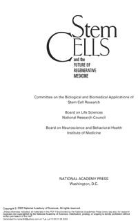 Stem Cells — обложка книги.