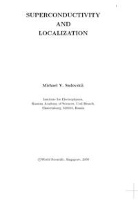 Superconductivity and localization — обложка книги.