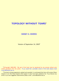 Topology Without Tears — обложка книги.